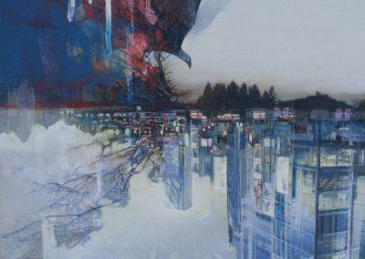 5/8 - 5/14 上描きされた風景 — Over-painted landscapes — 上出由紀|Yuki Kamide 髙木優希|Yuuki Takagi 高橋稜|Ryo Takahashi 服部篤浩|Atsuhiro Hattori 愛でるギャラリー祝